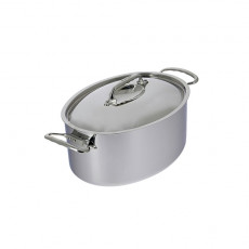 de Buyer Affinity Oval Stew Pan with Lid 6.5L