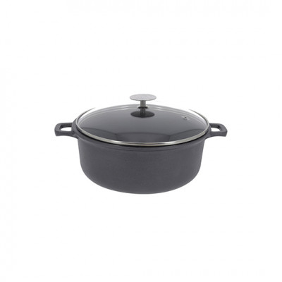 de Buyer Choc Extreme Stew Pan 2 Handles with Glass Lid 24cm